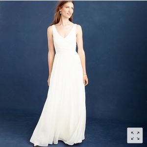 J. Crew Heidi Ivory Silk Chiffon Wedding Gown